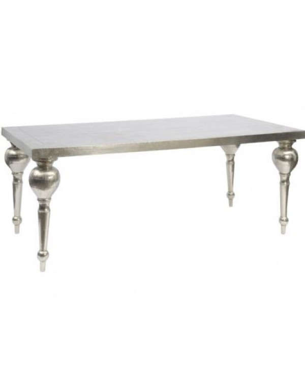 astor hand Embossed Rectangle Metal Dining Table
